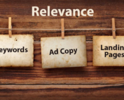 keywords ad copy and landing pages strung together